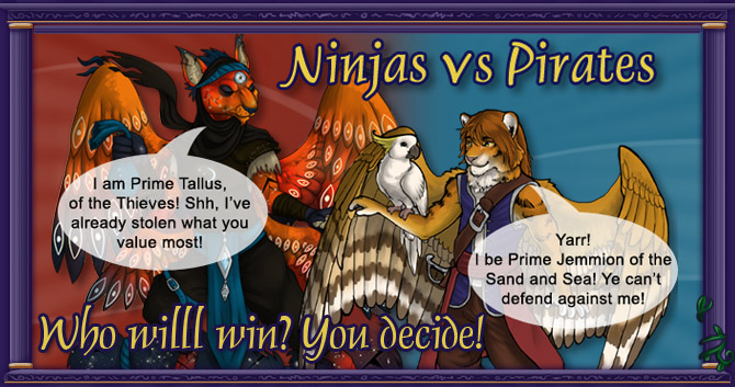 Ninjas vs Pirates!